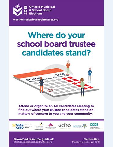 ontario municipal school board elections website