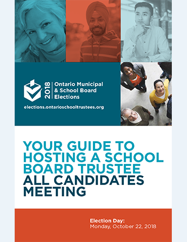 Your Guide to Hosting a School Board Trustee All Candidates Meeting Cover
