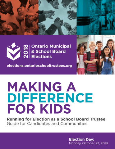 Making A Difference For Kids: Running for Election as a School Board Trustee Cover